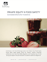 Download: Private Equity & Food Safety – Considerations for Investors